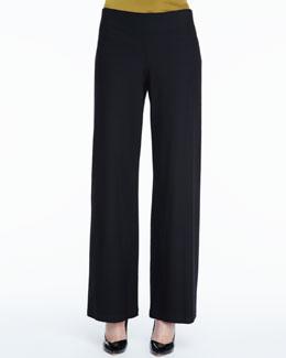 Eileen Fisher Stretch Crepe Modern Wide-Leg Pants, Petite