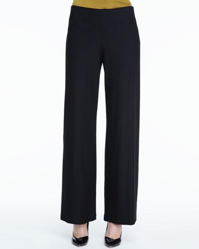 Eileen Fisher Stretch Crepe Modern Wide-Leg Pants, Women's