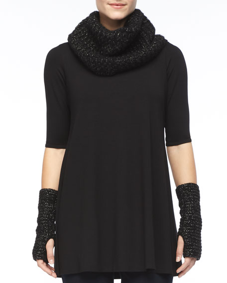 Sparkle Knit Infinity Scarf