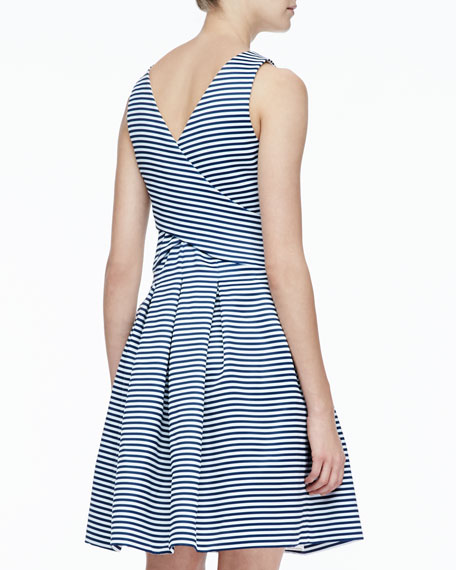 Striped Crisscross Dress