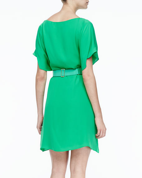 Belted Draped Dress