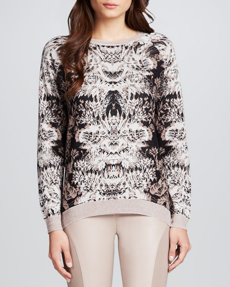Parker Printed Fitted Sweater