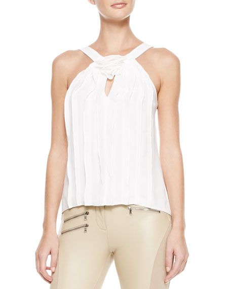 Malena Sleeveless Pleated Blouse