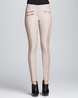 BCBGMAXAZRIA Stephen Faux-Leather Skinny Pants