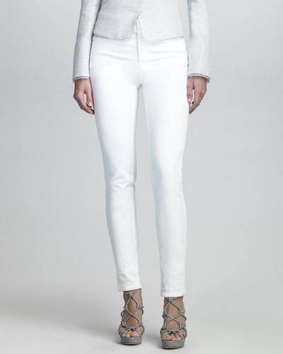 Armani Collezioni Relaxed Fit Jeans, White