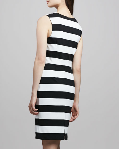 Marsha Striped Ponte Dress