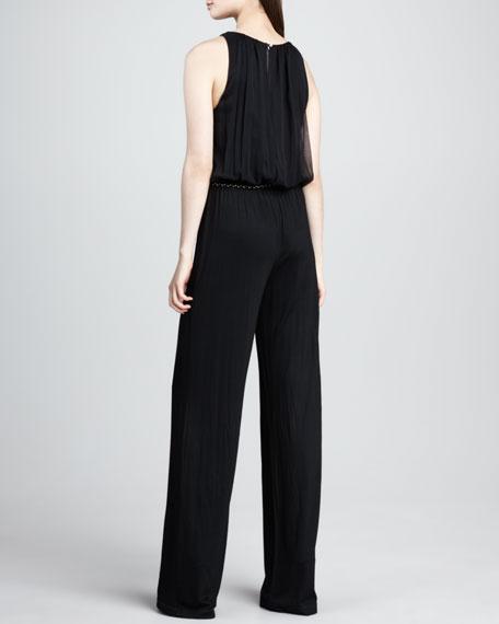 Lillia Sleeveless Jersey Jumpsuit