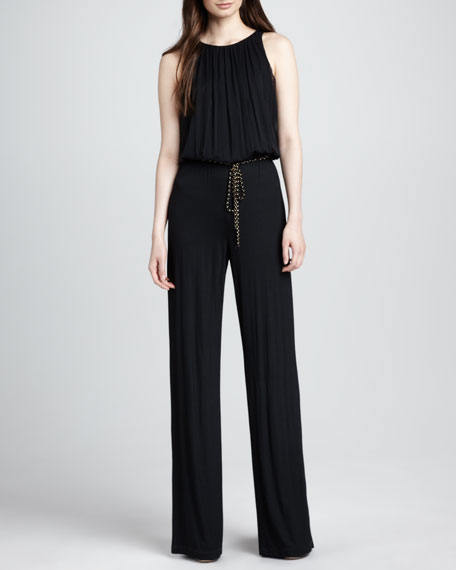 Lillia Sleeveless Jersey Jumpsuit