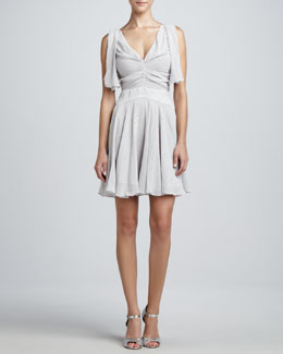 ZAC Zac Posen Sleeveless V-Neck Embellished Dress