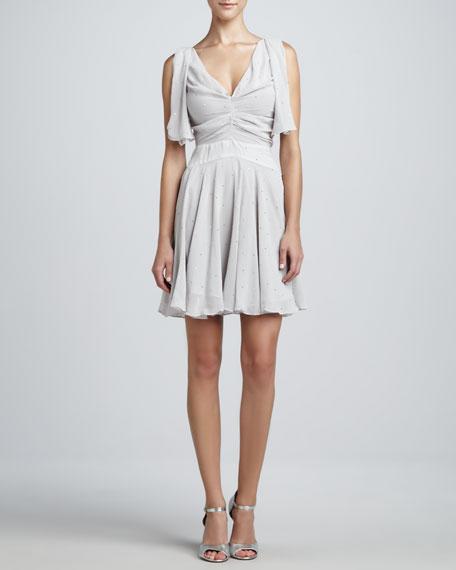 Sleeveless V-Neck Embellished Dress