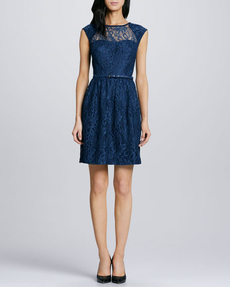 Cagney Belted Lace Dress