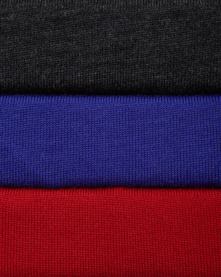 Merino Seam-Detail Boat-Neck Top