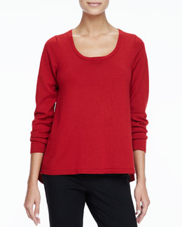 Eileen Fisher Merino Scoop-Neck Sweater