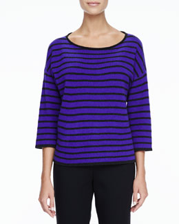 Eileen Fisher Super-Soft Yak & Merino Boxy Top, Petite