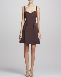 ZAC Zac Posen Sleeveless Fit-&-Flare Dress, Brown