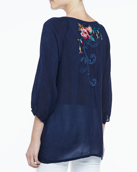 Mischa Embroidered Georgette Blouse