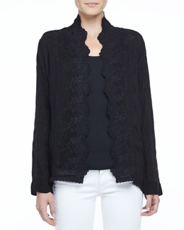 Johnny Was Collection Freedom Embroidered Cover-Up Cardigan