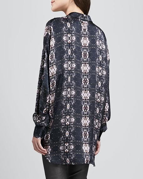Beasy Printed Long-Sleeve Blouse