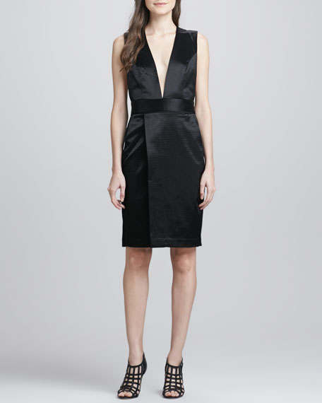 Derrie Deep-V Satin Dress