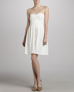 ZAC Zac Posen Strapless Sweetheart Dress, White