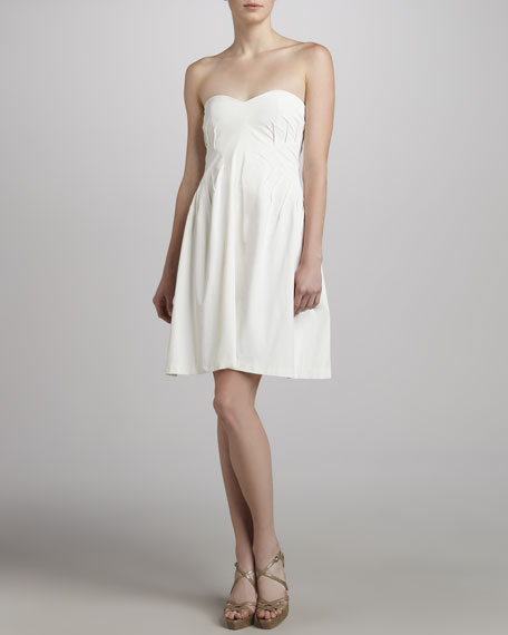 Strapless Sweetheart Dress, White