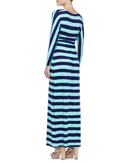 Riana Striped Jersey Maxi Dress