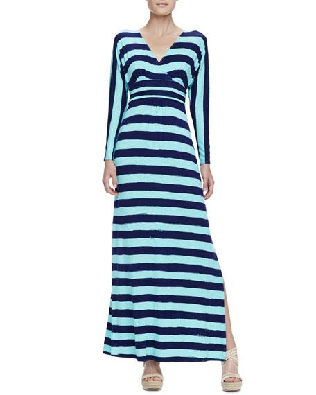 Riana Striped Jersey Maxi Dress
