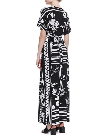 Empire-Waist Floral-Print Long Dress