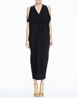 Melissa Masse Open-Shoulder Caftan Maxi Dress, Women's