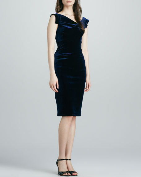 Jackie Velvet Asymmetric Dress