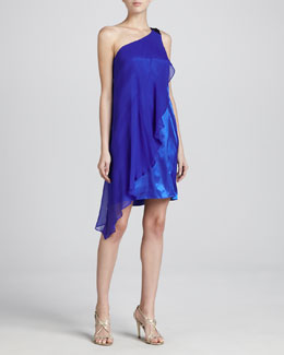 Aidan Mattox One-Shoulder Cocktail Dress