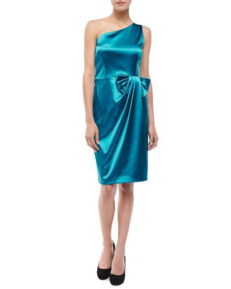 One-Shoulder Bow Dress