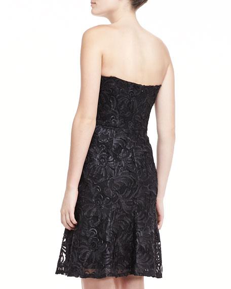Strapless Lace Dress, Black