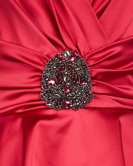 Satin Peplum Cocktail Dress