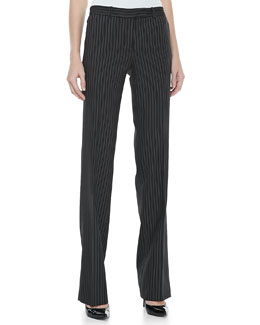 MICHAEL KORS Pinstripe Straight-Leg Trousers
