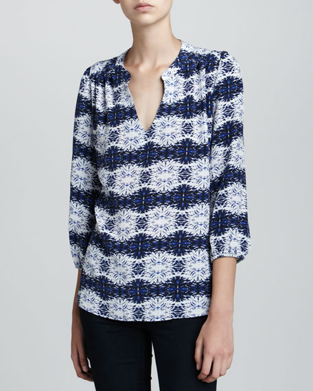 Alicia Scratch-Print Blouse