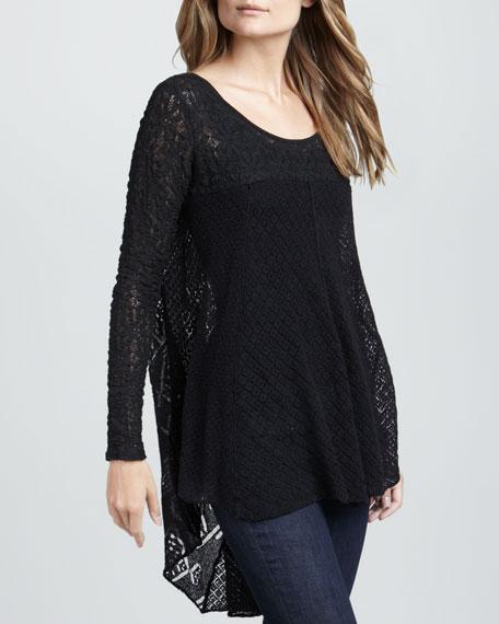 Black Magic Combo Lace Tunic