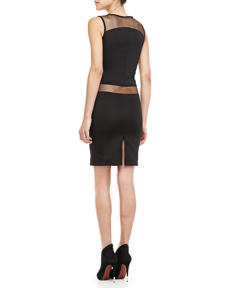 Gabby Mesh-Paneled Dress