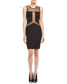 Boulee Gabby Mesh-Paneled Dress