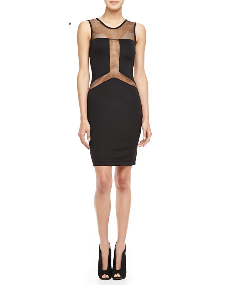 Gabby Mesh-Paneled Dress