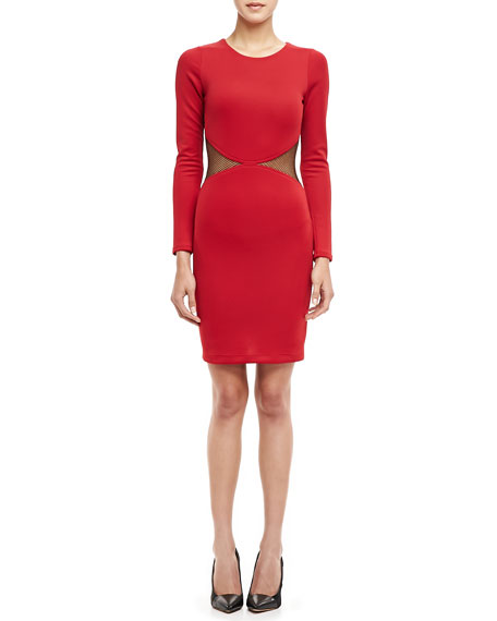 Lawrence Mesh-Panel Sheath Dress