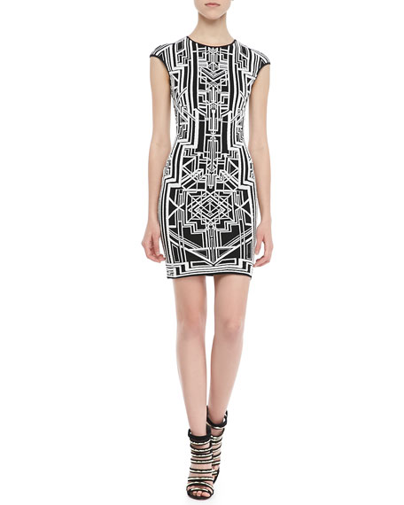 Tron 3D-Print Sheath Dress