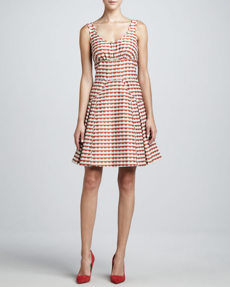 Gathered Bodice Flare Dress