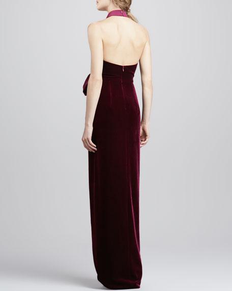 Admire Draped Velvet Gown