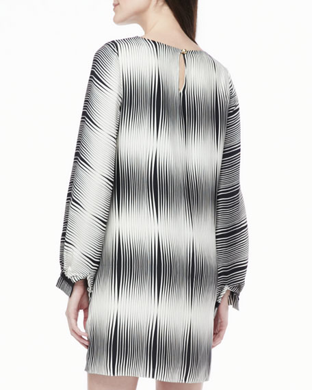 Nia Ombre-Stripe Dress