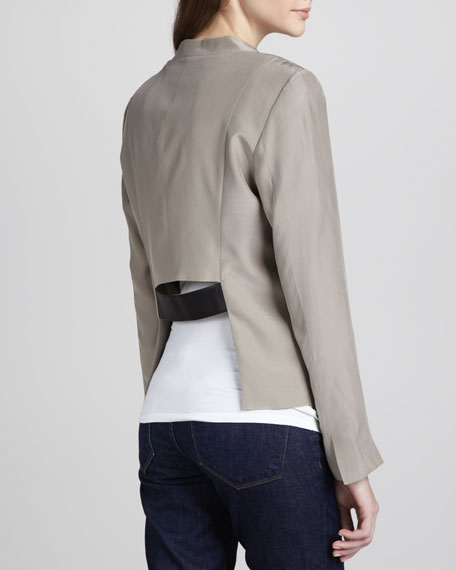 Jillian Cropped Leather Jacket