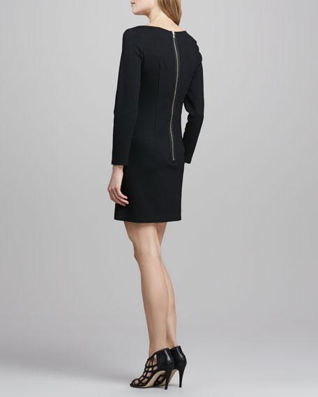 Lourdes Ponte/Leather Dress