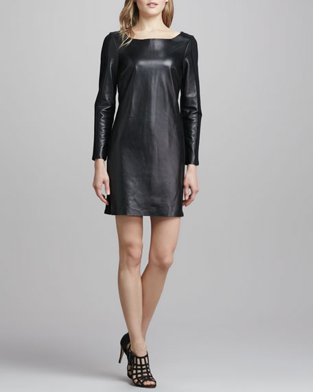 Lourdes Ponte/Leather Dress