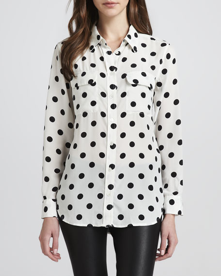 Signature Polka-Dot Blouse