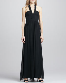 BCBGMAXAZRIA Starr V-Neck Sleeveless Gown